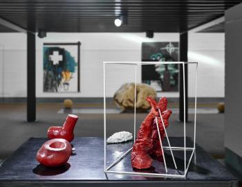 Annabelle Hyvrier 'Installation 2' painted bronze
