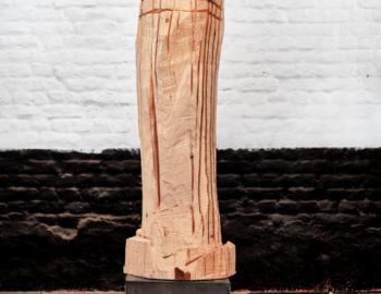 'Binome' 2015 cedar, iron Ht:140cm