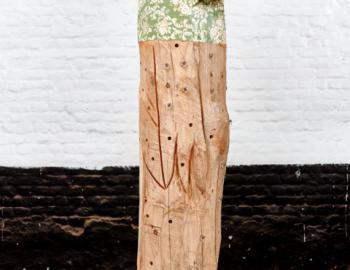 'Birdman' cedar tree, paper ht: 200cm