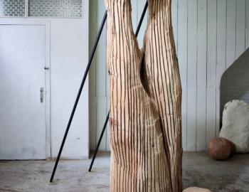 Annabelle Hyvrier, Legs, cedar, Ht: 220cm, 2013