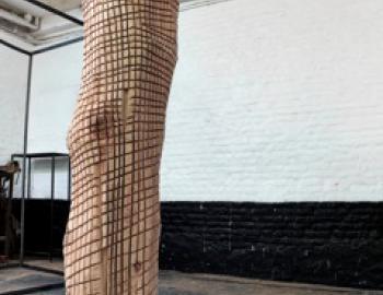 Annabelle Hyvrier, Beast 2, Ht: 220cm, cedar and iron, 2013