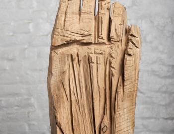 Annabelle Hyvrier, 'Hand' 2017, cedar, ht: 20cm back view