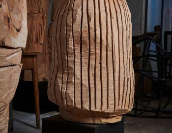 La chevelure, 2020, cèdre, ht: 70cm